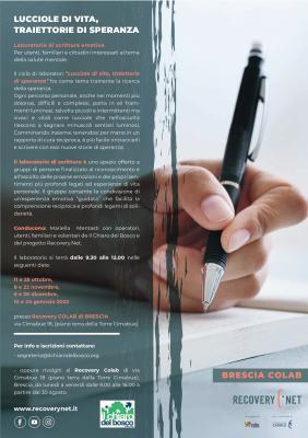 Lucciole di vita, traiettorie di speranza, edizione di Brescia - Recovery Colab